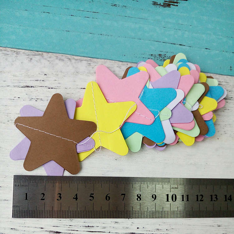 Colorful Wire Star Paper Garlands