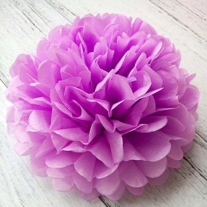 Comprar Umiss De Papel Flores De La Luz Púrpura De Papel Pom Poms ...