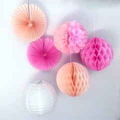 pink series paper decoration