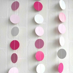 Colorful Paper Circle Garland