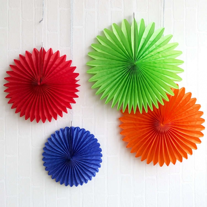Colorflul Paper Flower Fan