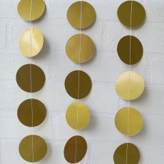 Gold and Silver Paper Circle Garland
