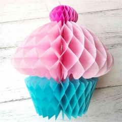 Tissue Paper Honeycomb Cupcakes