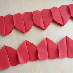 Red Heart Paper Garland