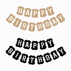 Craft Paper Decorations Happy Bithday Banner