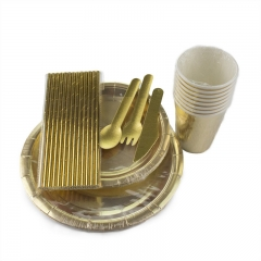 Gold Party Tableware Kit