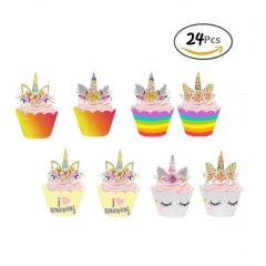 Unicorn Cupcake Toppers  Wrappers Wholesale